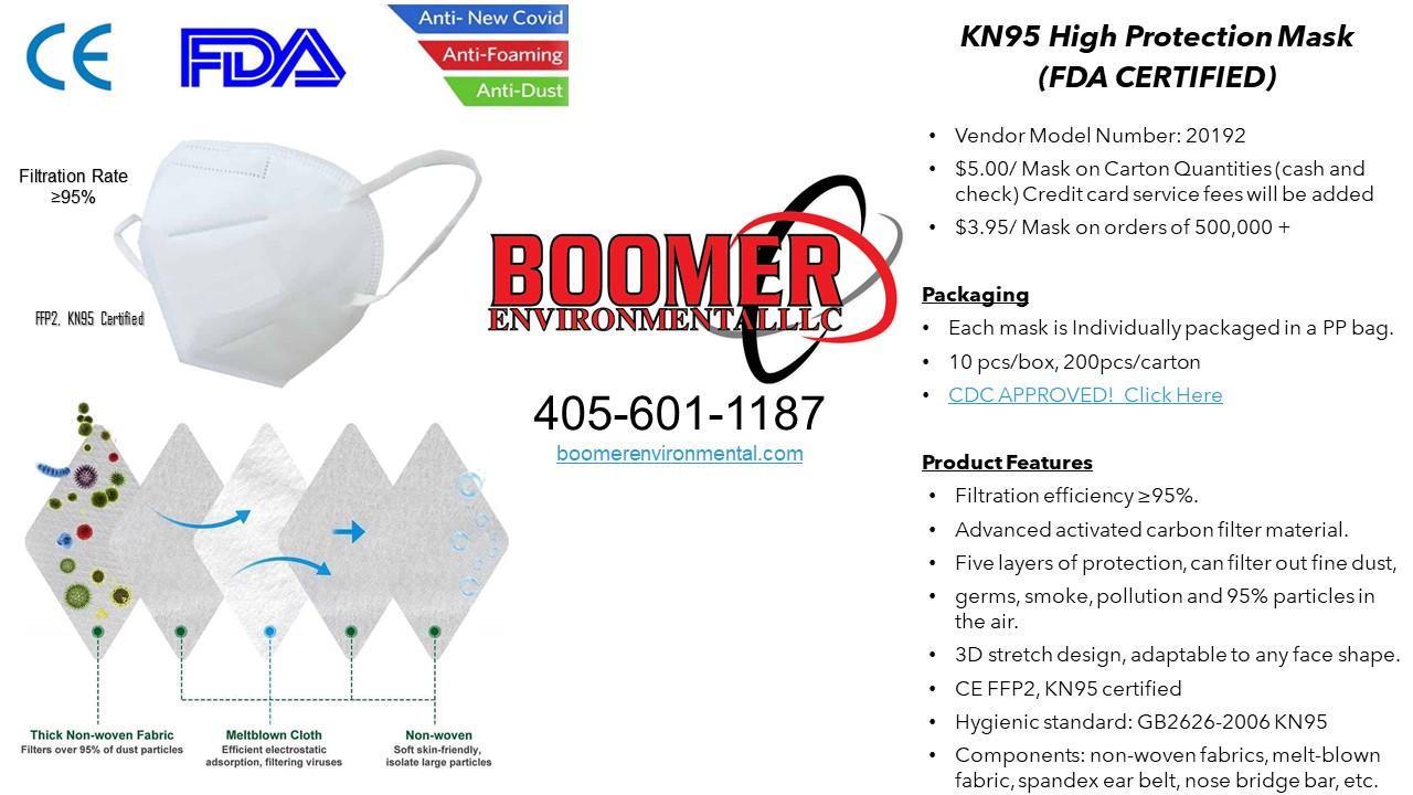 KN95 MASKS- FDA CERTIFIED VERSION 2